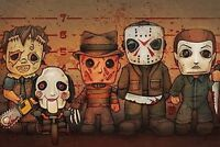 KILLER LINEUP - CLASSIC HORROR MOVIE CHARACTERS - POSTER 24x36 - 10024