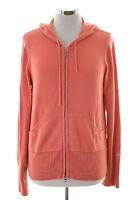 Gant Womens Hooded Cardigan Sweater Size 14 Large Orange Cotton
