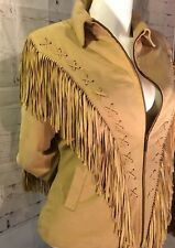 Taska Polizzi for Saddle-blanket & Co Doeskin Fringe Jacket size M.