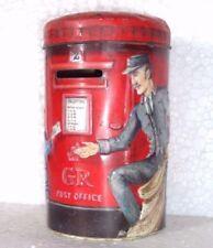 Vintage Coin Bank Churchills Heritage of England Post Box Money Box Tin