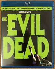THE EVIL DEAD BLU RAY LIMITED EDITION BONUS SPECIAL FEATURES DVD 2 DISC SET OOP