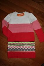NWT Gymboree Play By Heart Size 7 Pink Fair Isle Colorblock Sweater Dress