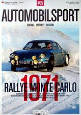 Automobilsport 01/2021 Renault Alpine A 110 Rallye Monte Carlo