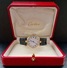 Cartier vendome amarillo oro 18k 750 tricolor 30mm elegante de lujo unisex reloj de pulsera