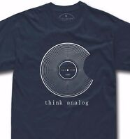 Vinyl record t-shirt funny apple analog dj disc gift turntable technics tshirt