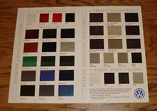 Original 1995 Volkswagen VW Color & Upholstery Guide Sheet Brochure 95 GTI Jetta