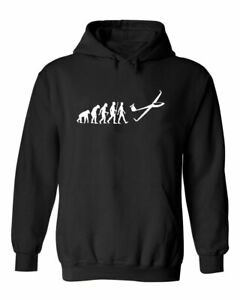 Funny Evolution Of The GLIDER Sarcastic Gliding Lovers Unisex Hoodie
