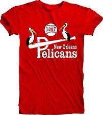 New Orleans Pelicans Logo Baseball Tee T Shirt Men's Fan Apparel Handmade New