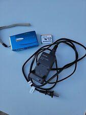 Fujifilm FinePix blue Digital Camera Z20fd w Battery Charger & Battery Pack 10MP