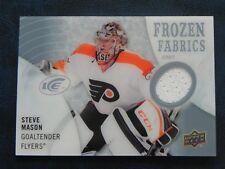 2014-15 14/15 UD Ice Frozen Fabrics Steve Mason Philadelphia Flyers