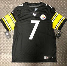 Nike Pittsburgh Steelers Ben Roethlisberger #7 Stitched Jersey 100th NFL Large L