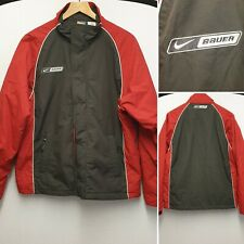 NIKE BAUER ICE SKATING HOCKEY RED AND BLACK JACKET COAT SIZE S SMALL WINTER