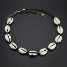 Kauri Muschel Halsband Halskette Meer Strand Kette Muscheln Metallperlen Silber