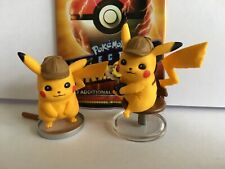 Detective Pikachu Figure Collection Figurines x2 (On the Case, Cafe, Pokemon)