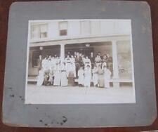Party People Group at Club House BADIN NC Stanly County c1911 Photo Badin Lake
