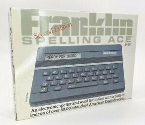 Vintage Franklin Spelling Ace SA-98 Second Edition Opened to Test Unit WORKING