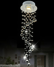 Spiral Fashion Decor Crystal LED Ceiling Light Diamond Chandelier Pendant Lamp