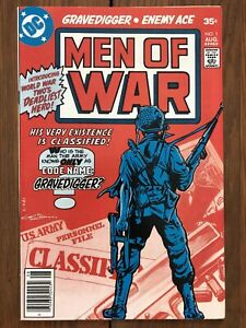 Men of War #1 (August 1977, DC) 1st appearance and origin of Gravedigger