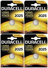 4x Duracell 2025 3V Lithium Coin Cell CR2025/DL2025 Batteries (4 Batteries)