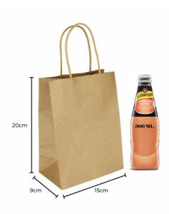 Bulk Kraft Paper Bags Brown Retail Bag with Handles Gift Shopping Carry Craft