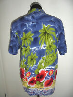 vintage Hawaii Hemd hawaiihemd Baumwolle surfer oldschool shirt 90s surf XL (L)