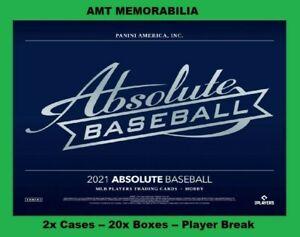 Brady Singer Kansas City Royals 2021 Panini Absolute 2X CASE 20X BOX BREAK #2