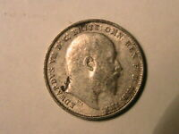 1907 GREAT BRITAIN Threepence XF+/AU Lustrous Edward VII British 3p Silver Coin