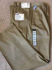 NWT Men's Haggar No Iron Classic Fit 44x32 Pleated Khaki $55 Pants, New!!