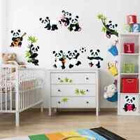 Wandtattoo Pandabären Mega Set Kinder Zimmer Tiere Baby Wandsticker Aufkleber