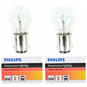 2 pc Philips 1076CP Tail Light Bulbs for 26854 Electrical Lighting Body xv