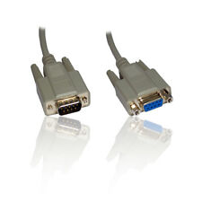 More details for 2m 6' feet serial rs232 rs-232 comms 9 pin male to female extension cable lead