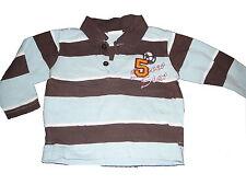 Tika LOO GREAT Long Sleeve Shirt Size 74 Brown-Light Blue Striped!!!