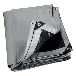 280g/m² Tarpaulin Heavy Duty Waterproof Cover Tarp Ground Camping Sheet Eyelets