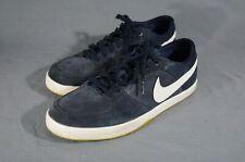 Nike LUNARLON Blue Leather & Suede Skateboard Sneakers Men's Size 12