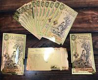 1 Utah Goldback -Aurum Gold Foil Note- 24K GOLD!-1/1000 OZ GOLD-AS LOW AS $9.74!