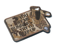 Eod If You See Me Running Try To Keep Up 3D Usa Army Morale Badge Hook Patch -01