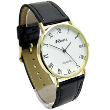 Ravel Mens Classic Quartz Watch Black Strap White Face I-XII R0129.11.1