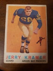 1959 Topps Jerry Kramer rookie Green Bay Packers 116