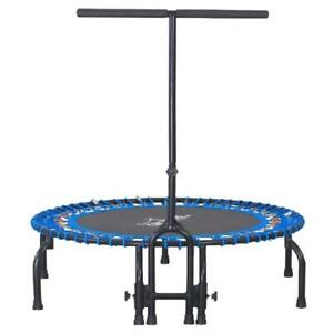 38 Inch Fitness Bungee Trampoline Exercise Rebounder With Removable Pad Blue New