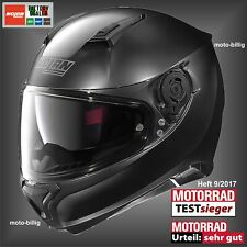 Nolan Motorradhelm N87 Classic N-COM 10 schwarz matt S 56 cm Integralhelm