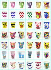 HALLOWEEN DISPOSABLE TABLEWARE POLKA DOT STRIPE ZIGZAG BIRTHDAY DESIGN PAPER CUP