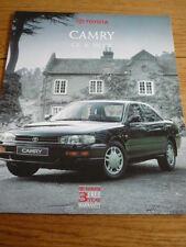 TOYOTA CAMRY GL & V6 GX CAR BROCHURE, jm
