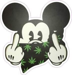 Mickey Mouse  Weed / Marijuana sticker  / Decal