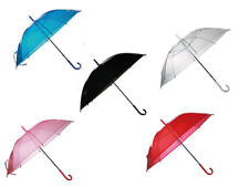 Regenschirm Regen Schirm transparent verschiedene Farben zur Auswahl