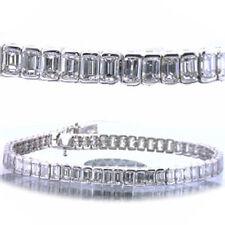 11.2 carat total Emerald Cut Diamond Tennis Bracelet 14k Gold VS1 clarity 7 inch