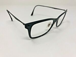 RAY-BAN LIGHTRAY Eyeglasses Frame Italy RB7039 2077 53-18-140 Black Matte QN47