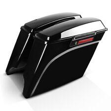 Seitenkoffer Stretched für Harley Davidson Touring Modelle 94-13 Black Latch