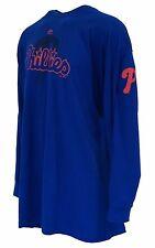 Philadelphia Phillies MLB Majestic Blue Long Sleeve T Shirt, Men's Big & Tall