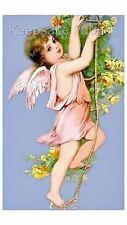 Angel Climbing Vine Yellow Roses  Fabric Quilt Block FrEE ShiPPinG WoRld WiDE c