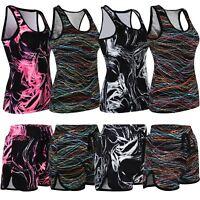 Ladies Gym Sports Vests or Shorts Women Active Run Wear Fitness Vest Shorts XS-L